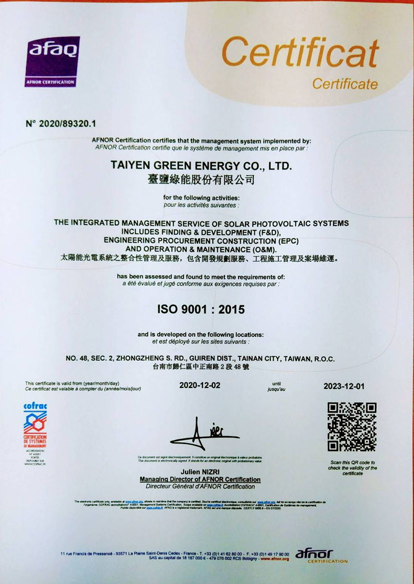 ISO 9001:2015(1)